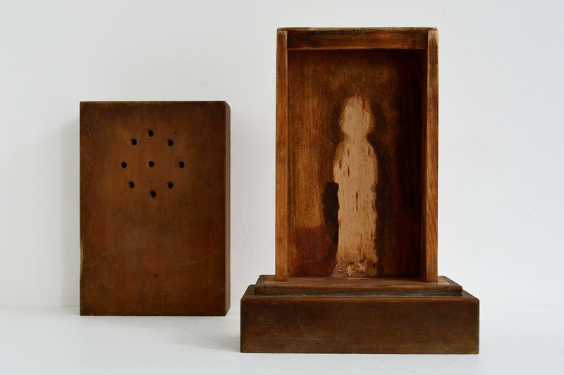 Shadow Buddha – slide type wooden shrine box