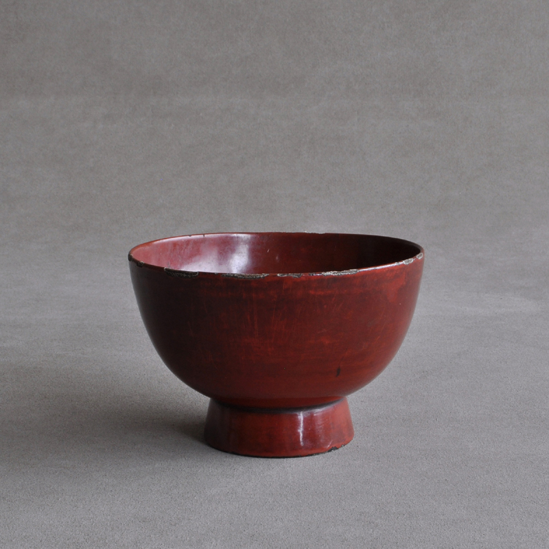 Negoro red lacquered bowl Edo period